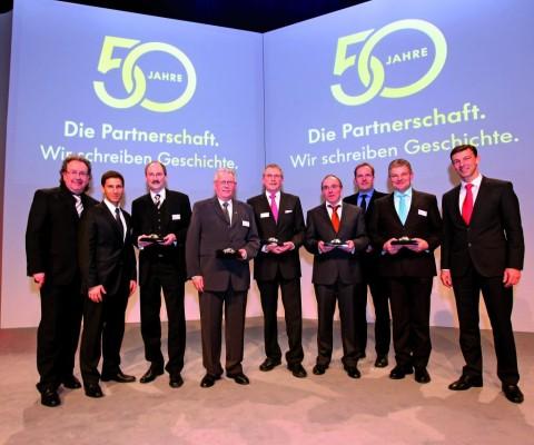 Volkswagen zeichnet für 39 Händler- und Werkstattbetriebe aus
