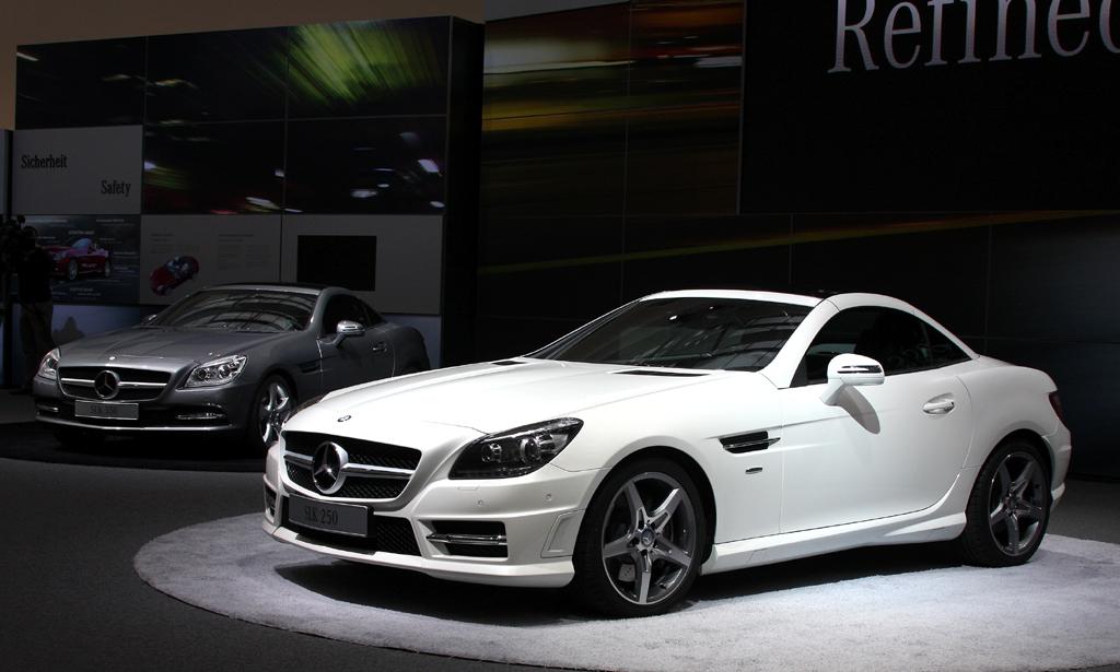 Weltpremiere: So sieht die SLK-Neuauflage von Mercedes aus.