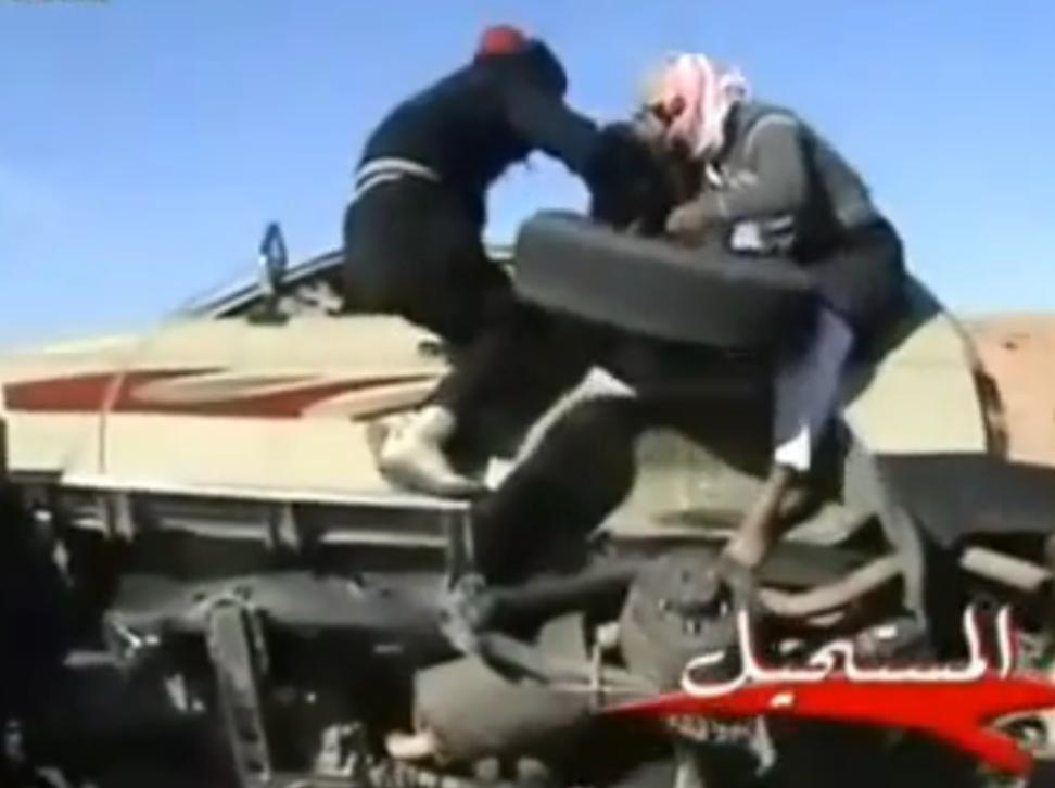 Wie man bei einem fahrenden Auto die Reifen wechselt