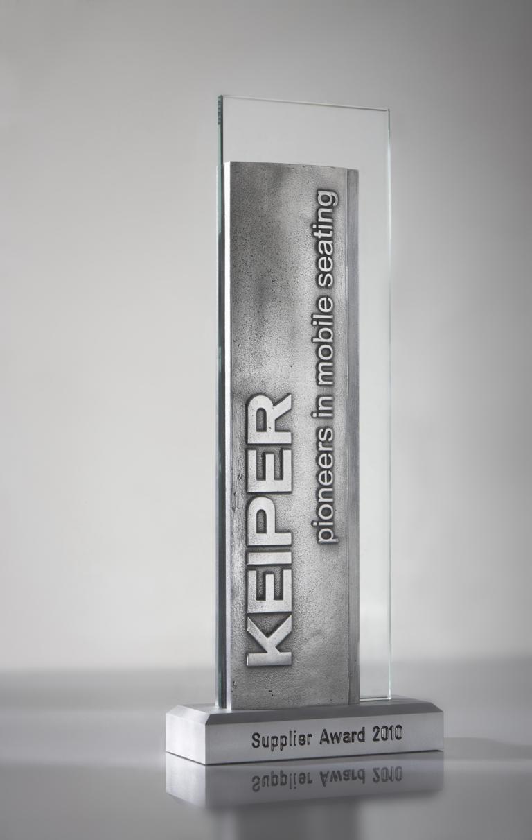 """""""Keiper Supplier Award 2010""""."""