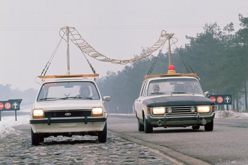 1975 ging der Ford Fiesta auf erste Versuchsfahrten