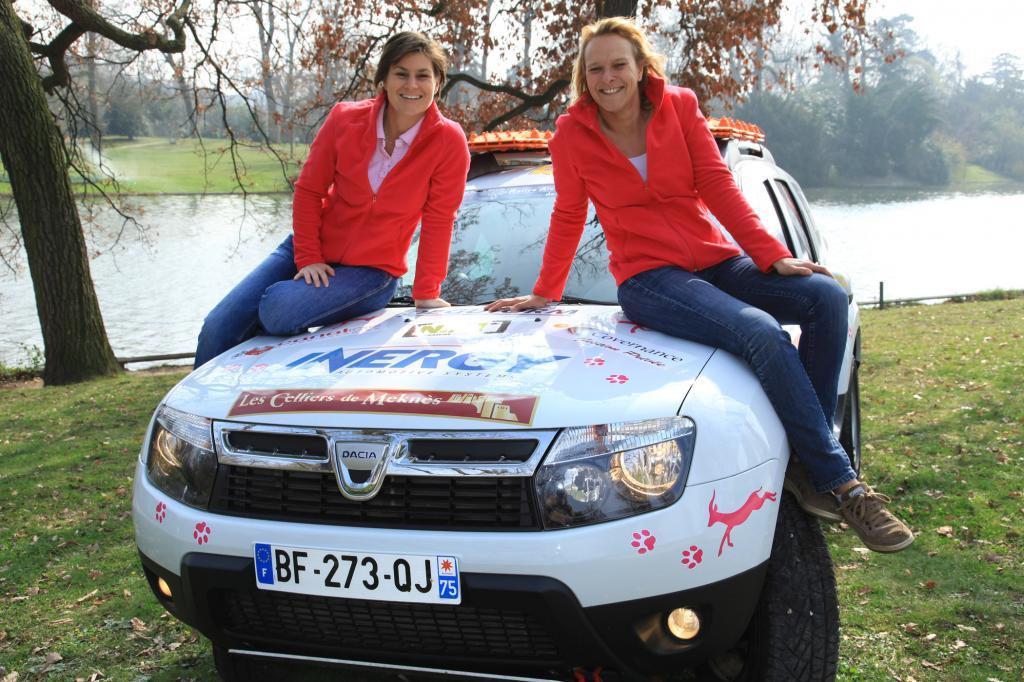 Anne Seringe (35) und Isabelle Bukowski (38) starten zum ersten Mal bei einer Rallye