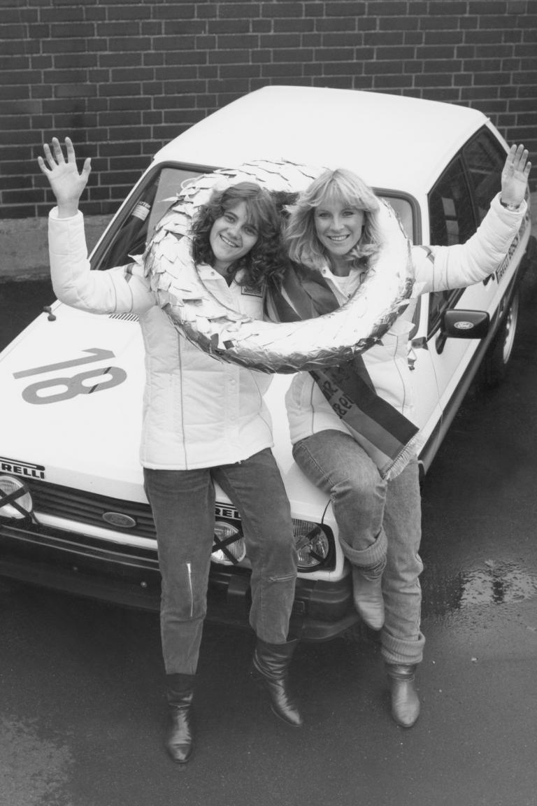 Auch bei weiblichen Sport-Fahrerinnen war der Fiesta beliebt