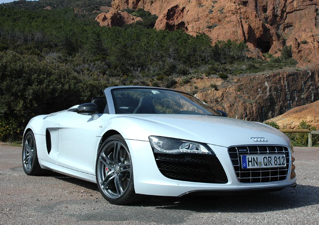 Audi-Leichtbau: Der Hochleistungssportwagen R8, hier Spyder, steht für Leichtbau in reinster Form.