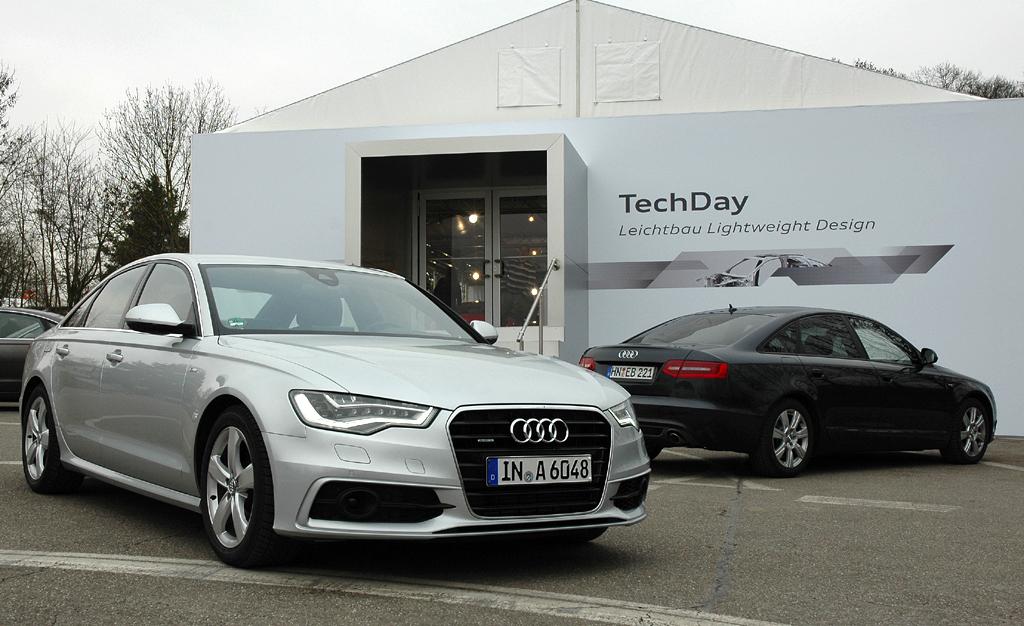 Audi Leichtbau: Der neue A6 zeigt sich schon bis über 20 Prozent sparsamer.