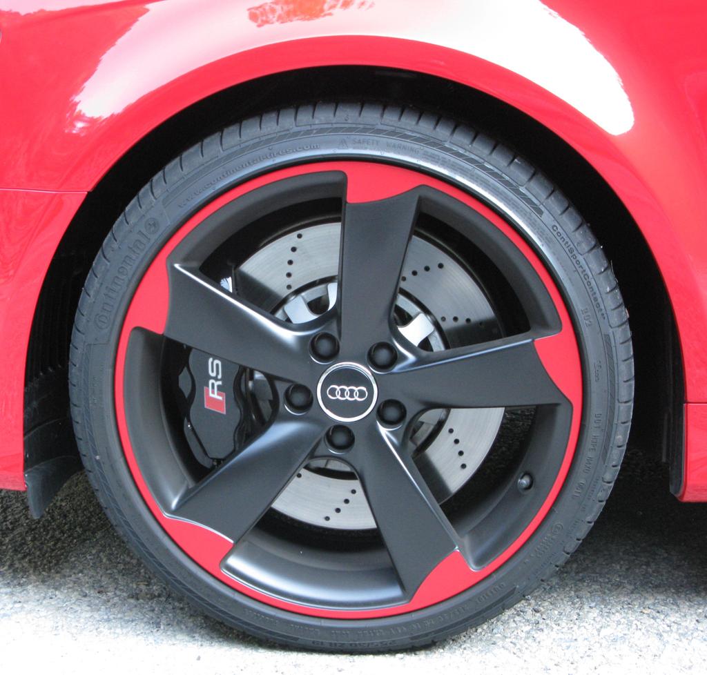 Audi RS3 Sportback: Die Räder verfügen über ein markantes Design.