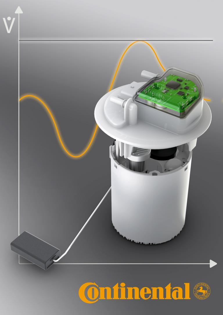 Bedarfsgeregelte Kraftstoffpumpe mit integrierter Elektronik von Continental senkt Kraftstoffverbrauch.