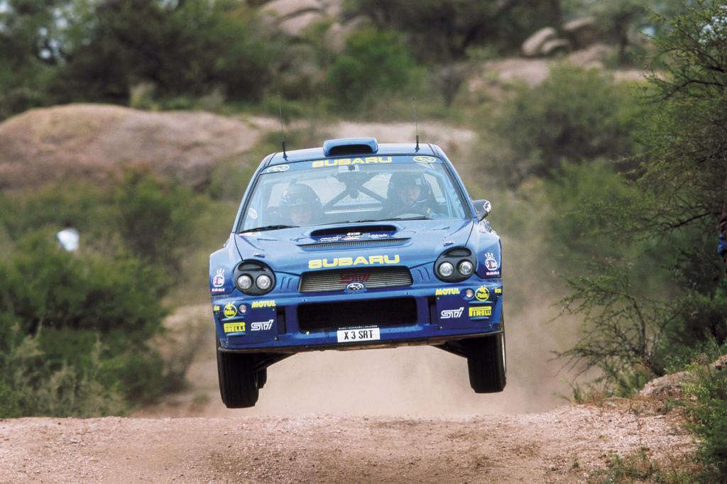 Bei der Rallye-WM 2002