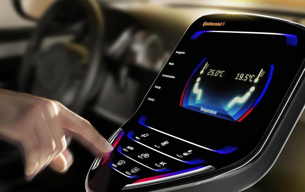 Continental stellt neues Display- und Bedienkonzept für Mittelkonsolen vor