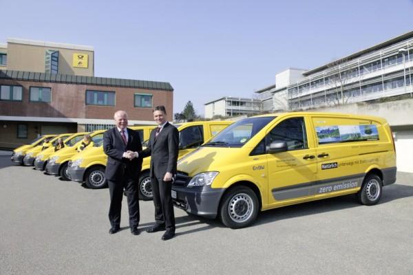 Deutsche Post hat größte Flotte von Mercedes-Benz Vito E-Cell