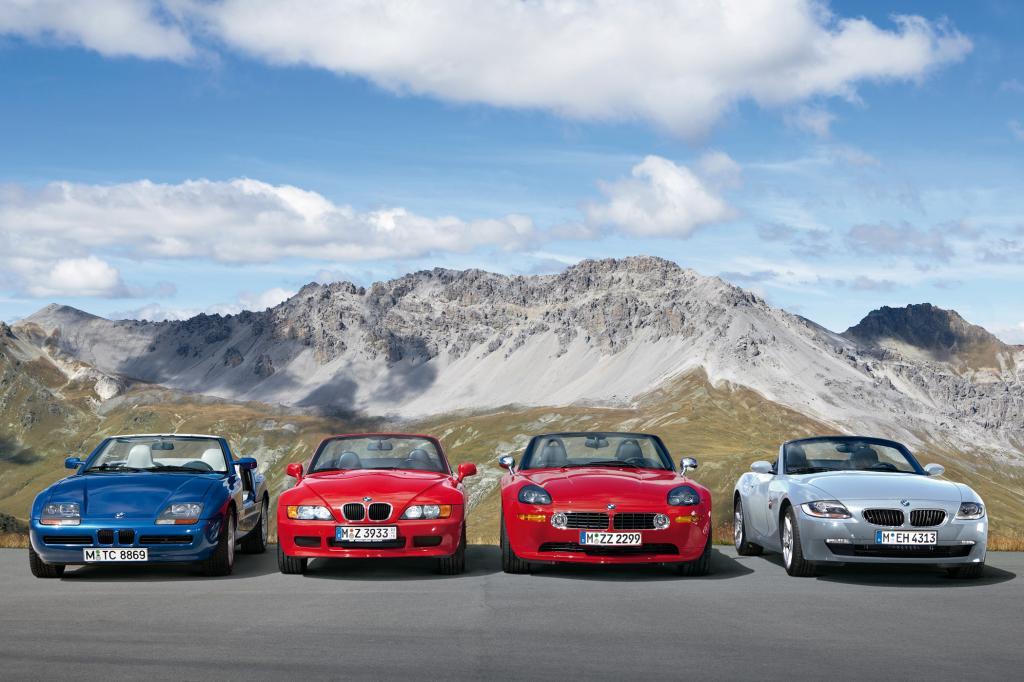 Die Ahnengalerie der BMW Roadster