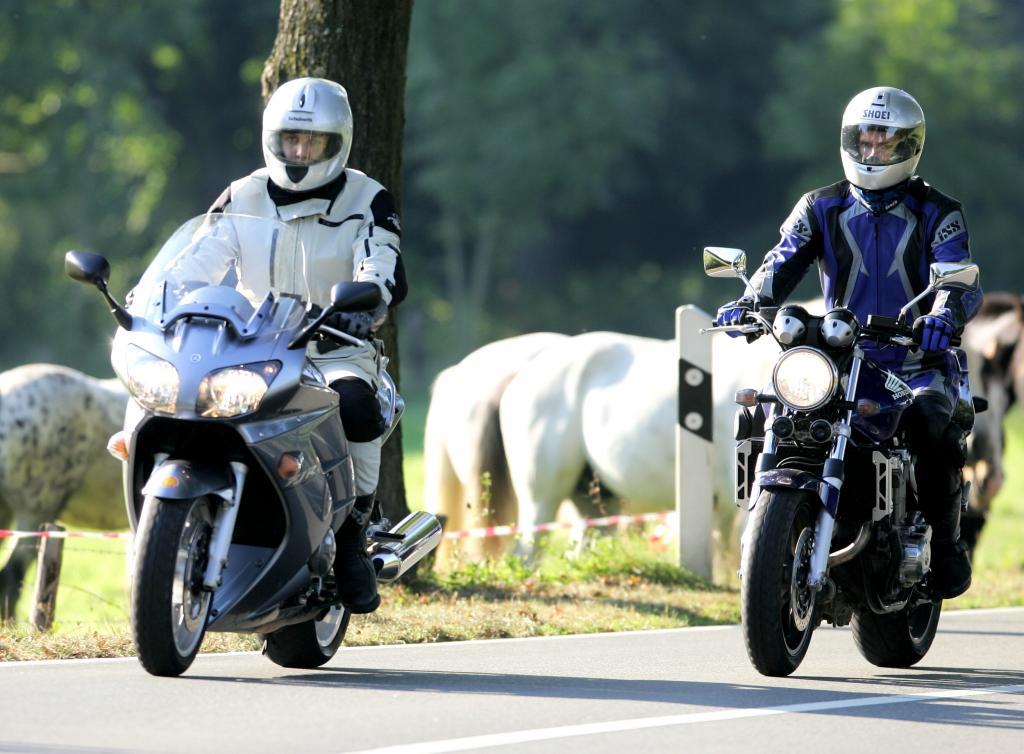 Die Motorradsaison beginnt.