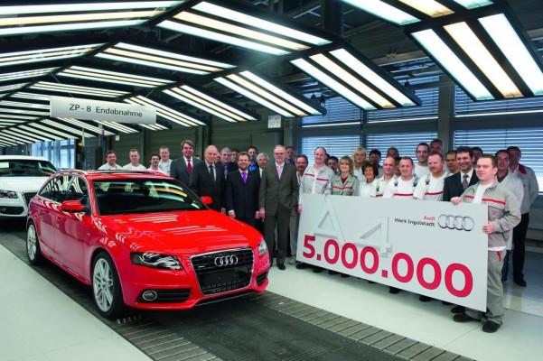 Fünfmillionster Audi A4 rollt vom Band