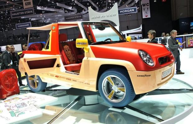 Genf 2011: Rinspeed Bamboo - Elektromobil für den Strand