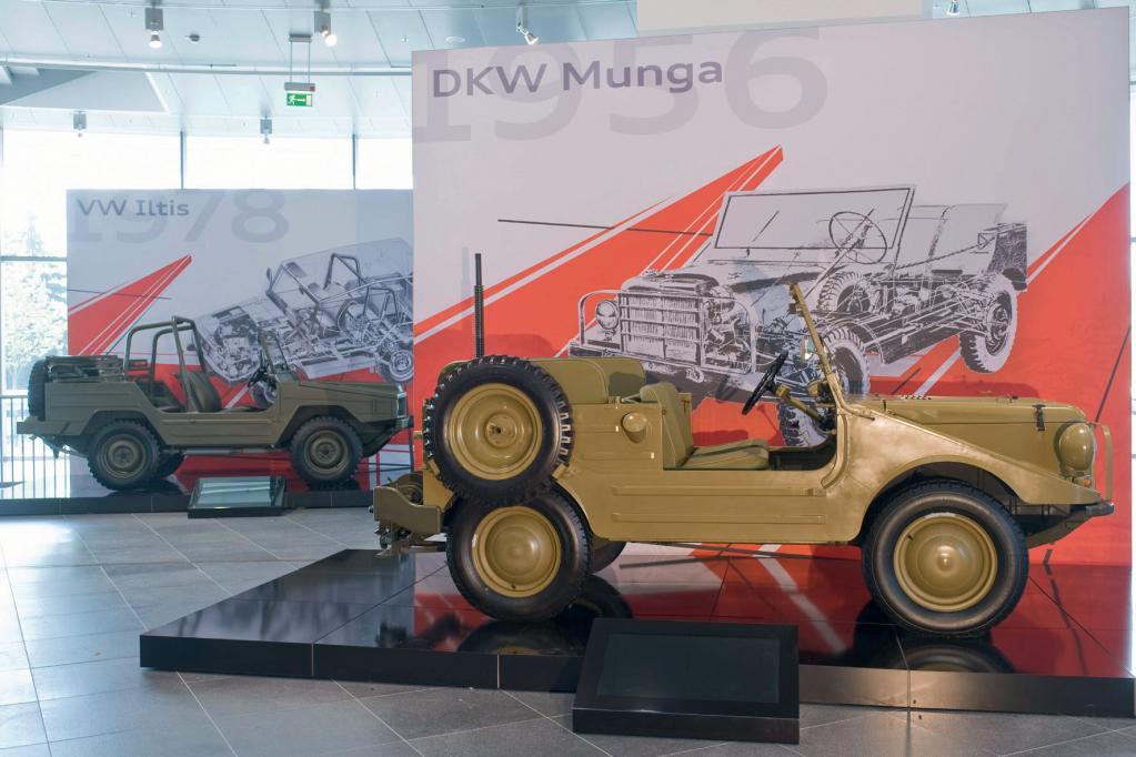 Heutzutage ist der DKW Munga in jedem Fall ein Hingucker, auch ohne goldenen Lack.