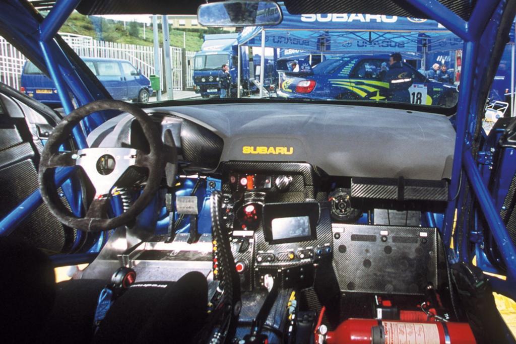 Im Cockpit des Rallyeautos