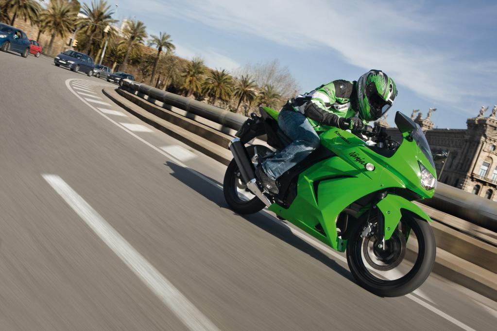 Kleiner Sportler ganz groß: die Kawasaki Ninja 250.