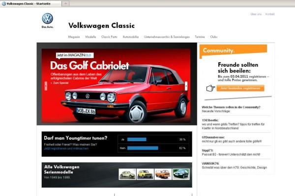 Neuer Online-Auftritt für VW-Klassik-Fans