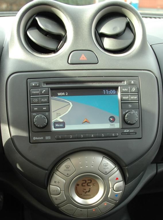 Nissan Micra: Blick auf den mittleren Armaturenträger.
