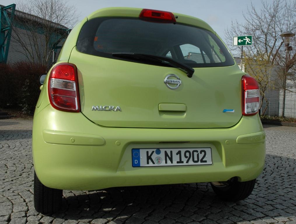 Nissan Micra: Blick auf die Heckpartie des Fünftürers.