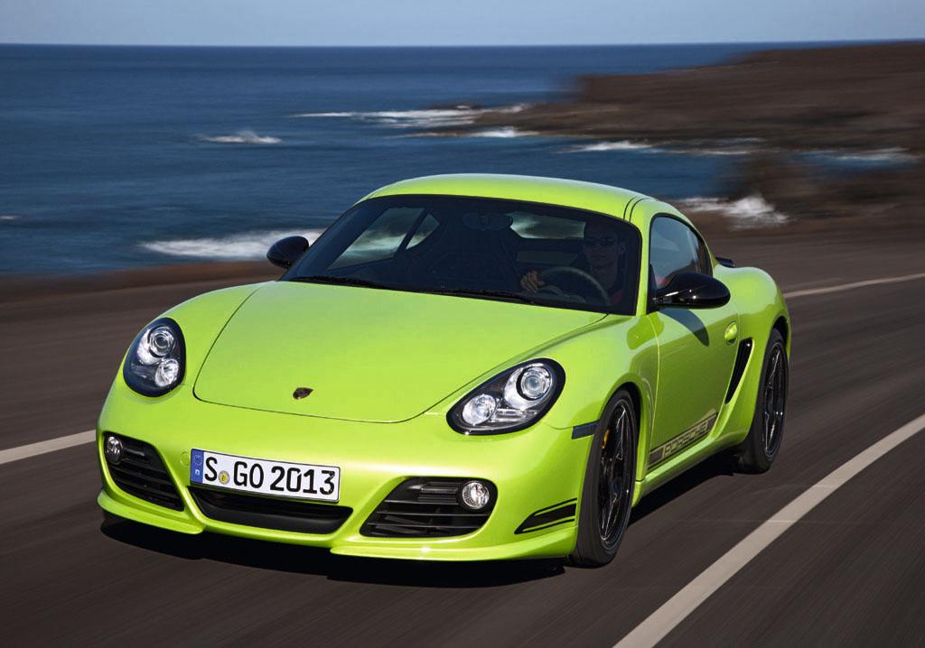 Porsche Cayman R: Das Spitzenmodell liegt tiefer als seine beiden übrigen Brüder.