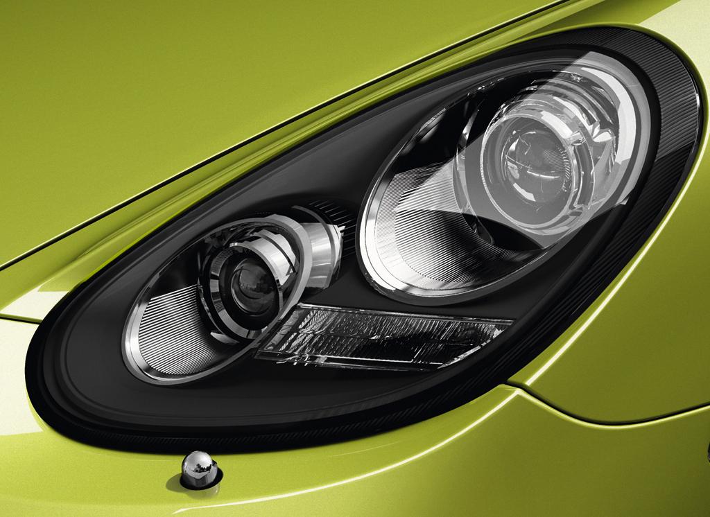 Porsche Cayman R: Moderne Leuchteinheit vorn.