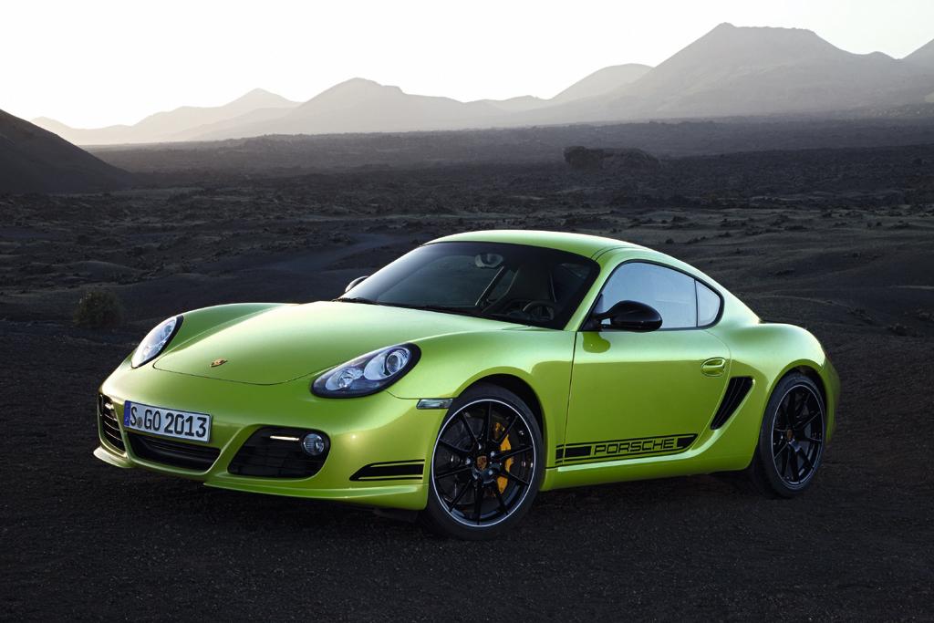 Porsches Cayman R ist ein zweisitziges Mittelmotor-Coupé. Fotos: Porsche