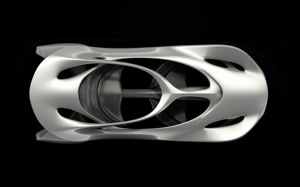 """Skulptur Mercedes-Benz """"Aesthetics 125""""."""
