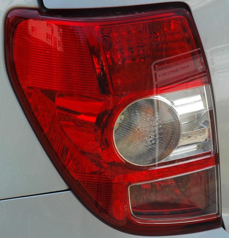 Toyota Urban Criuser: Hochformatige Leuchteinheit hinten.
