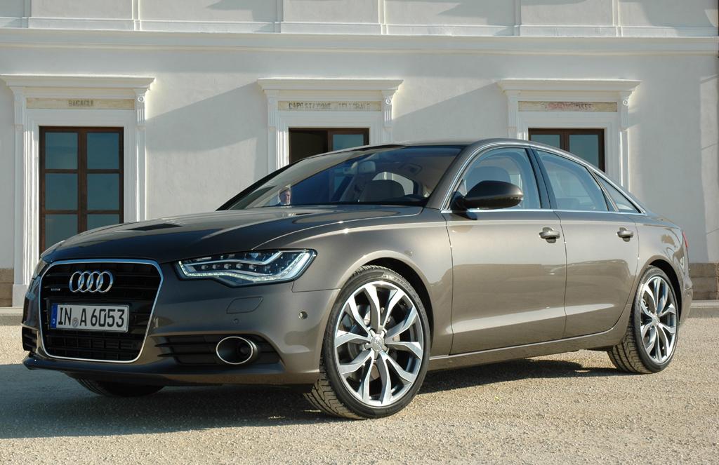 Und so sieht das fertige Produkt, die noch leichter bauende Audi-A6-Neuauflage, aus.