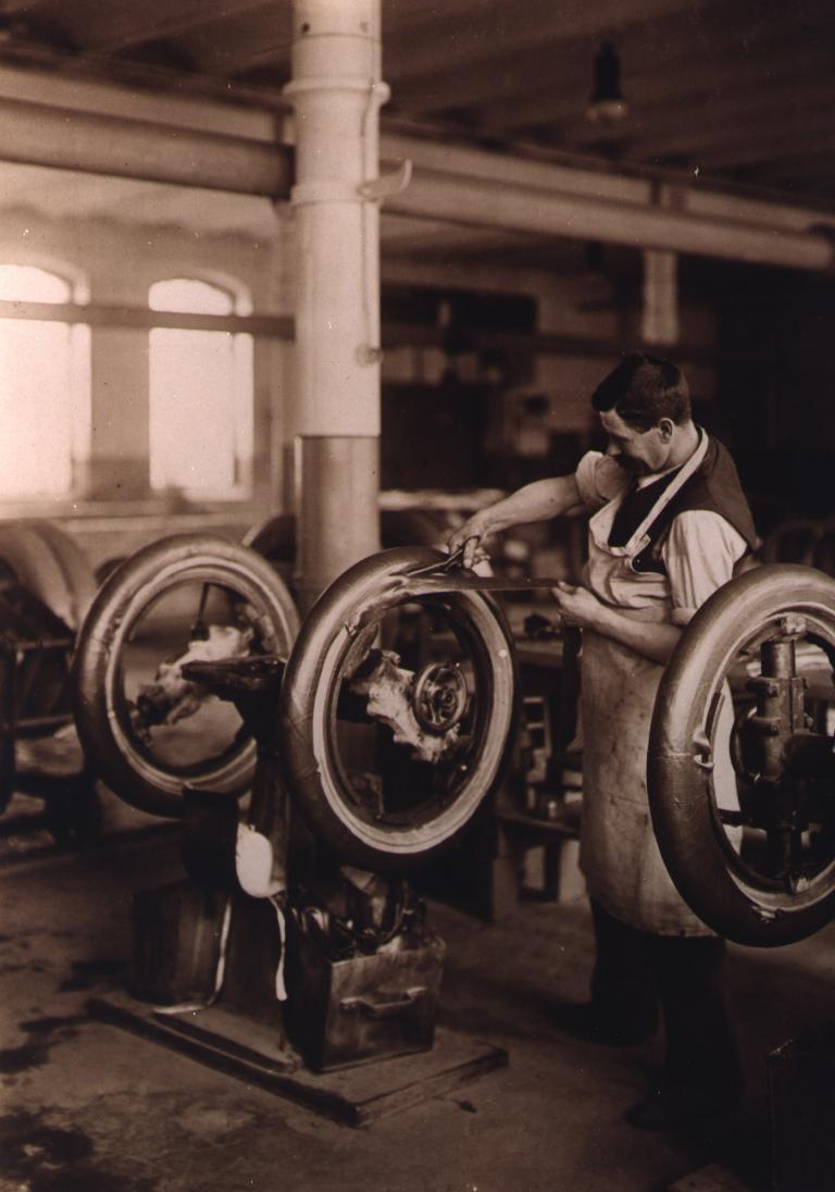 140 Jahre Continental: 1921 im Werk Hannover-Stöcken.