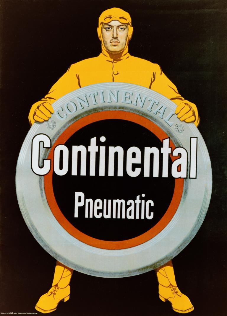 140 Jahre Continental: Werbung von 1912.