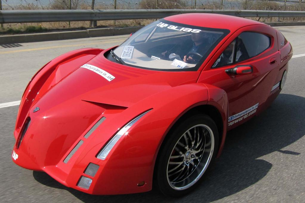 Aber auch futuristische Stromer-Konzepte wie der dreirärdrige E-Sportwagen Alias sind auf der China-Messe zu bestaunen.