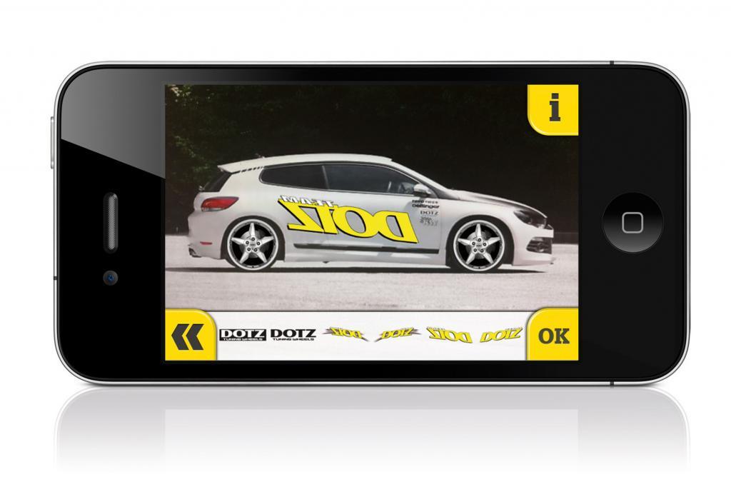 App für Felgen - Räder-Spieltrieb