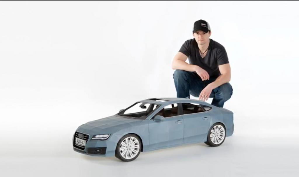 Audi A7 aus Origami