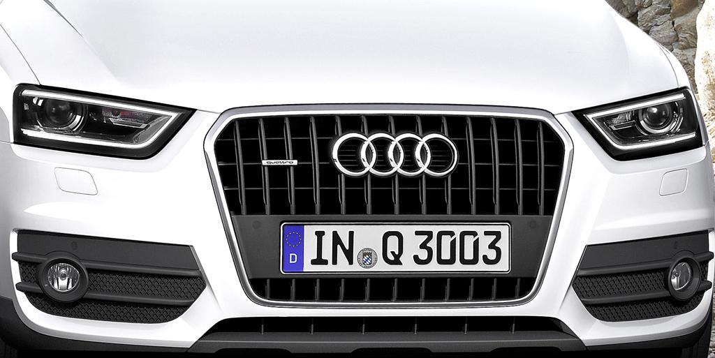Audi Q3: Die Front weist natürlich Ähnlichkeiten zu den größeren Q5 und Q7 auf.