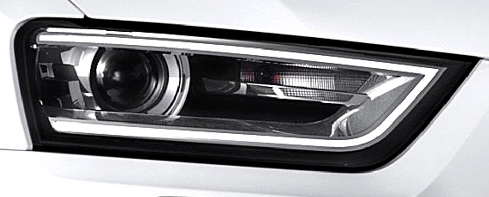 Audi Q3: Moderne Leuchteinheit vorn.