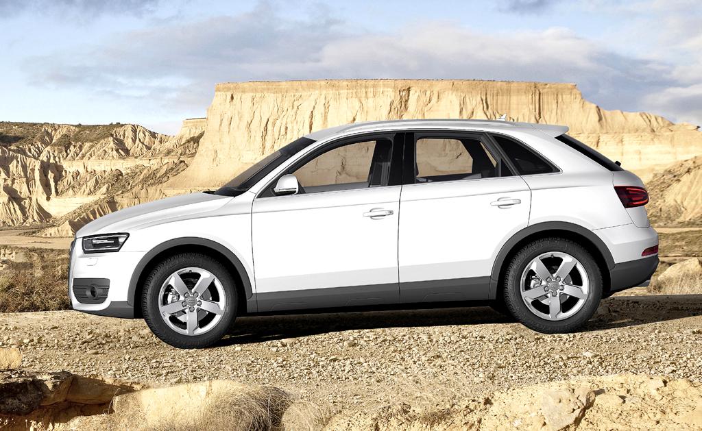 Audi Q3: Seitenansicht des Schwestermodells des Tiguan von VW.