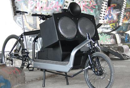 Das Lautsprecher-Bike von Klara Geist, Foto: Klara Geist