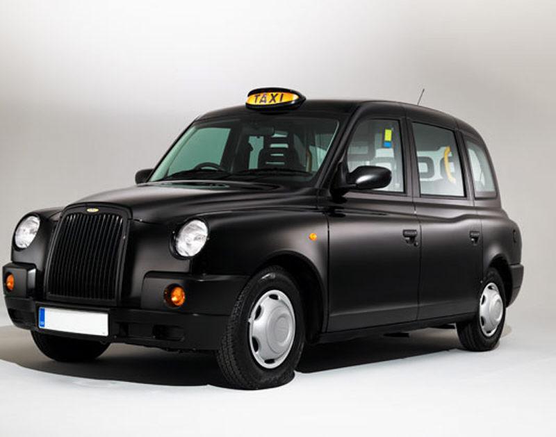 Das typische britische Taxi ist schwarz.