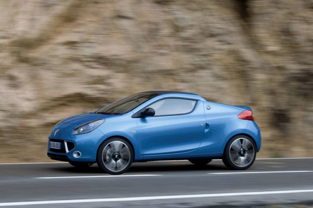 Dass die Basis vom Twingo stammt, sieht man dem Renault Wind nicht an