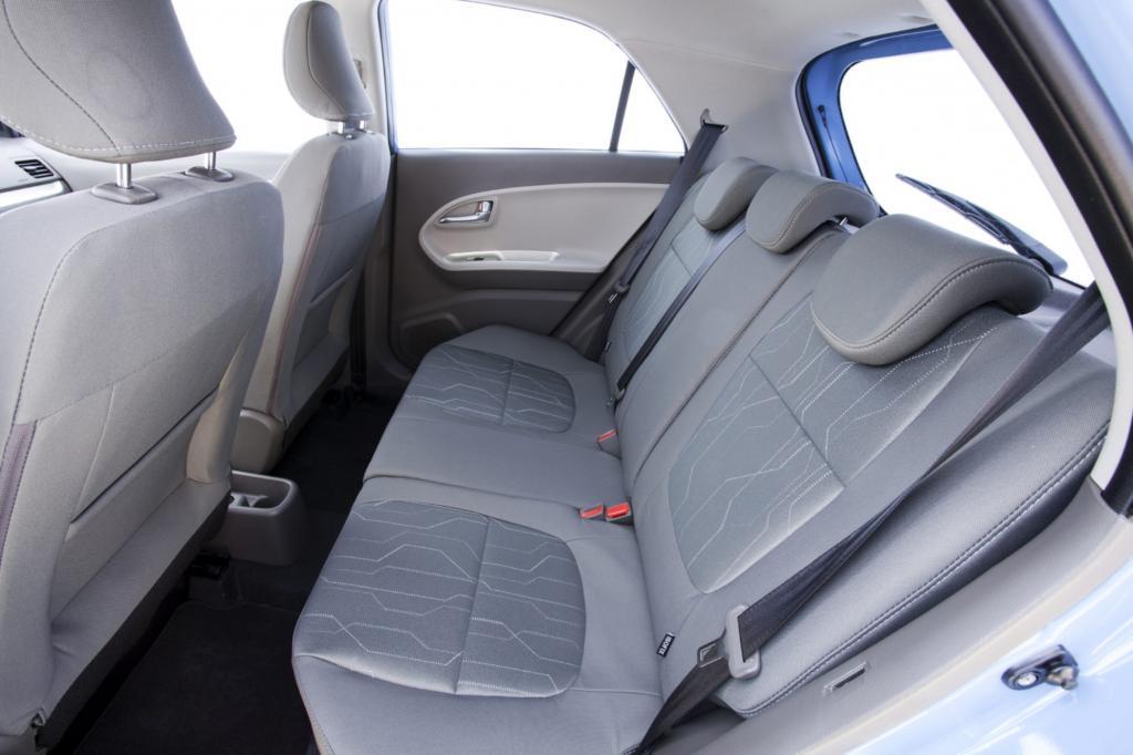 Der mittlere Sitzplatz hinten eignet sich nur für Notfälle