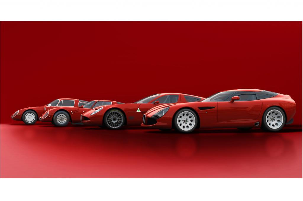 Die Ahnenreihe: TZ1 und TZ2 aus den 60er-Jahren, der TZ3 Corsa und der TZ3 Stradale