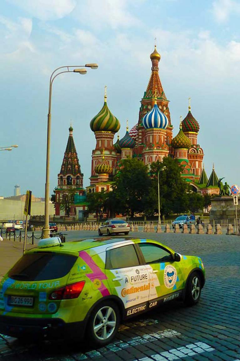 Die Reise führte beispielsweise durch Moskau und andere Städte.