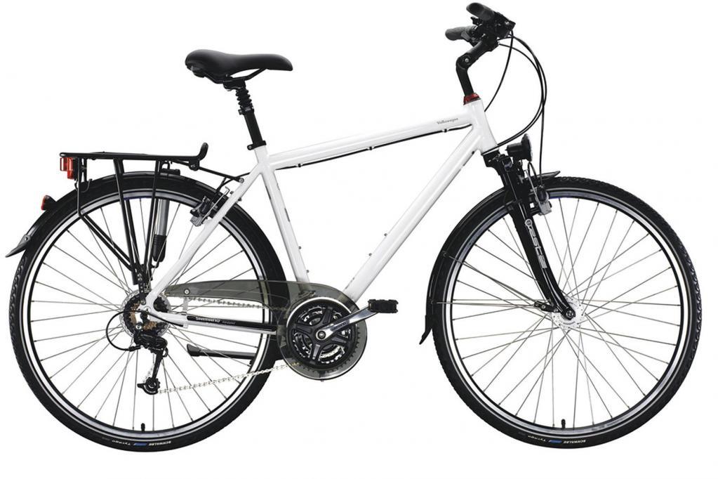 Für längere Fahrten sind die in einer Herren- und Damenversion erhältlichen Trekkingräder gedacht.