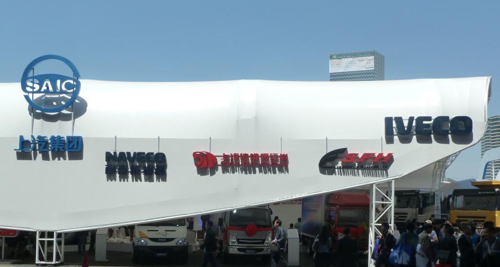 Iveco-Stand auf der Auto Shanghai.