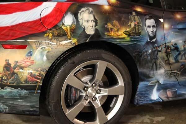 Längst vergangene Zeiten: Chevrolet Camaro meets Airbrush-Kunst