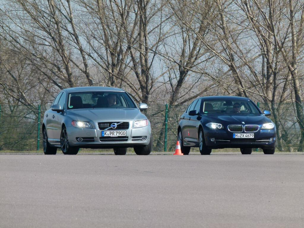 Limousinen-Duell: BMW 520d vs. Volvo S80 D3 im auto.de-Vergleichstest