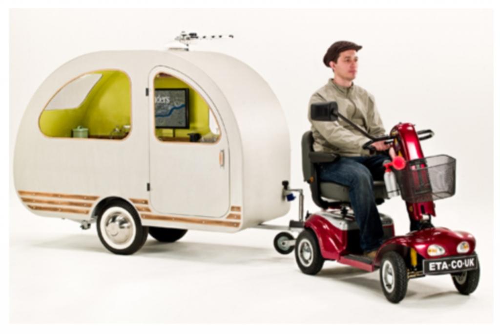Mini-Wohnwagen - Ein Schneckenhaus für das Seniorenmobil