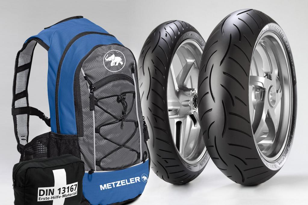 Motorrad: Rucksack zum Kauf von Metzeler-Reifen